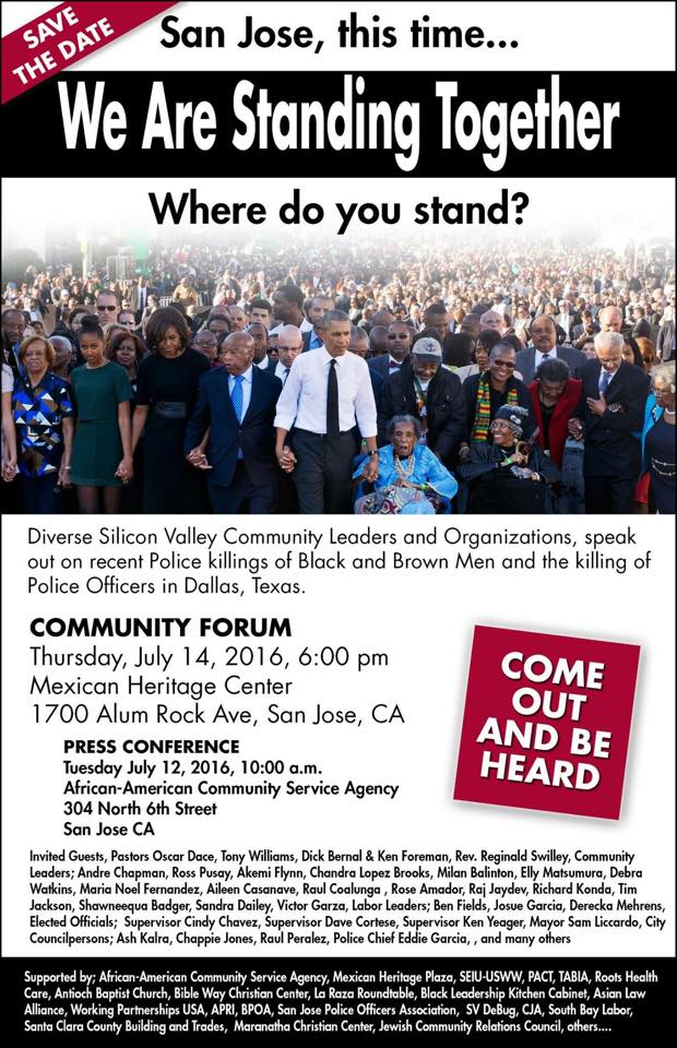 Community Forum in San Jose Tomorrow night + News + Added Events